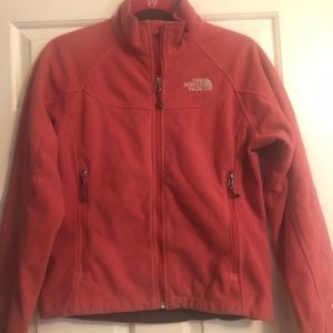 North Face Windwall jacket dark coral-pink